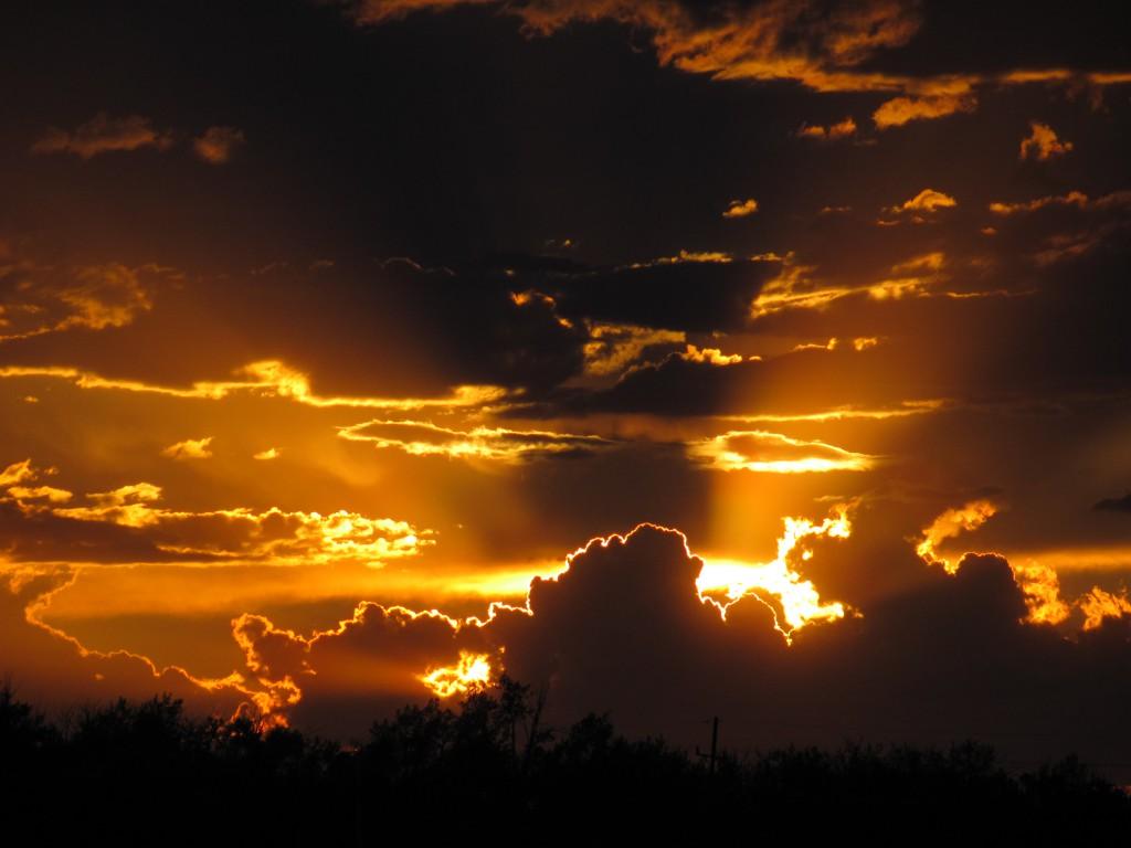 Sunset near Bozeman, MT.