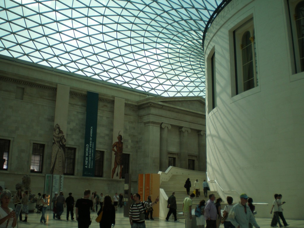 Interior of the British Museum, London.