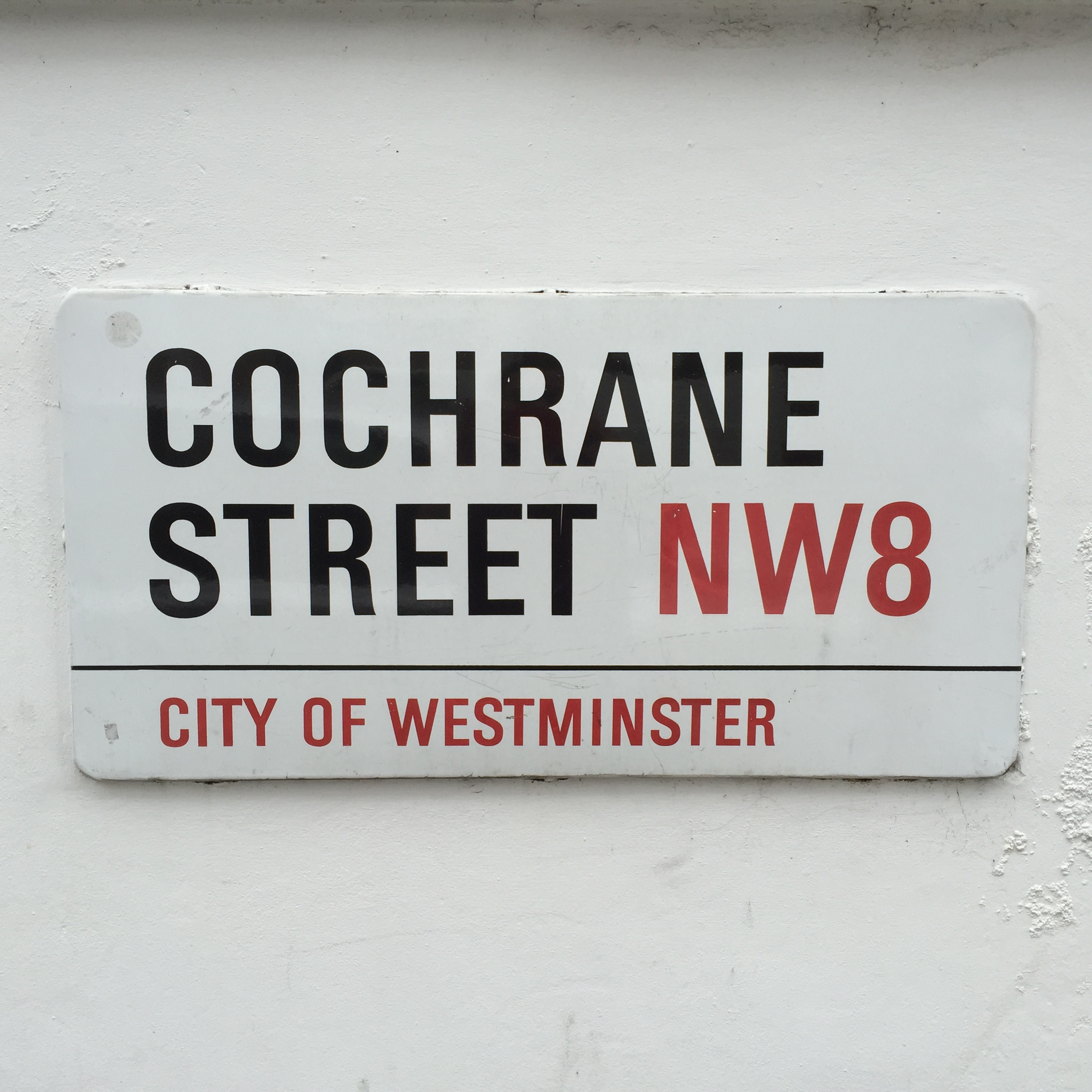 "Street sign reading ""Cochrane Street"""