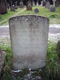 Headstone at Kate Cochrane's grave