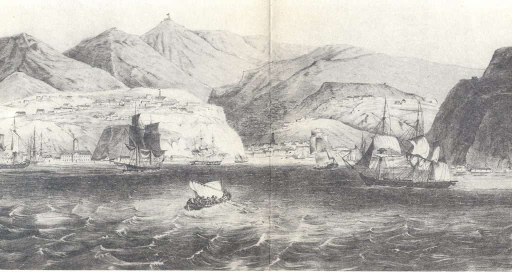 Image of the harbor in the city of Valparaiso