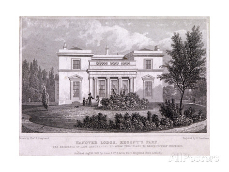 Image of Hanover Lodge, an elegant house and home of the Cochrane family.