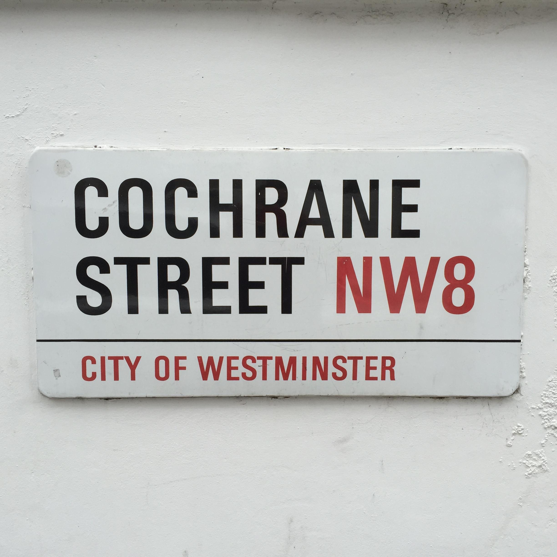 "Street sign reading ""Cochrane Street"""